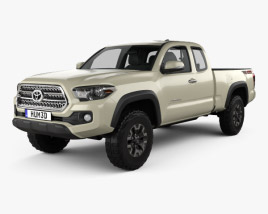 3D model of Toyota Tacoma Access Cab Long bed TRD Off-Road 2014