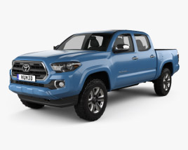 3D model of Toyota Tacoma Double Cab Short Bed 2014