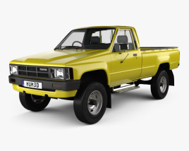 3D model of Toyota Hilux DX Long Body 1983