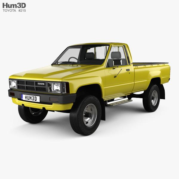Toyota Hilux DX Long Body 1983 3D model