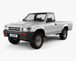 3D model of Toyota Hilux Double Cab 1988