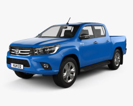 3D model of Toyota Hilux Double Cab Revo 2015