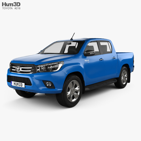 Toyota Hilux Double Cab Revo 2015 3D model