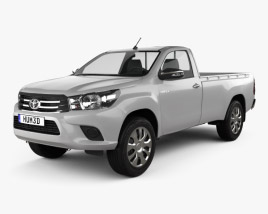 Toyota Hilux Single Cab SR 2015 3D model