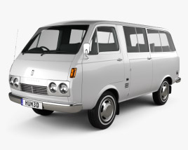 3D model of Toyota Hiace Passenger Van 1967