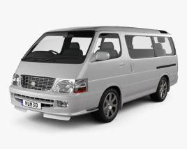 3D model of Toyota Hiace Passenger Van (JP) 1999