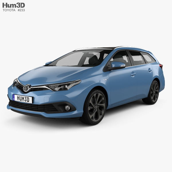 3D model of Toyota Auris Touring Sports Hybrid 2015
