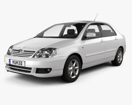 3D model of Toyota Corolla sedan 2004