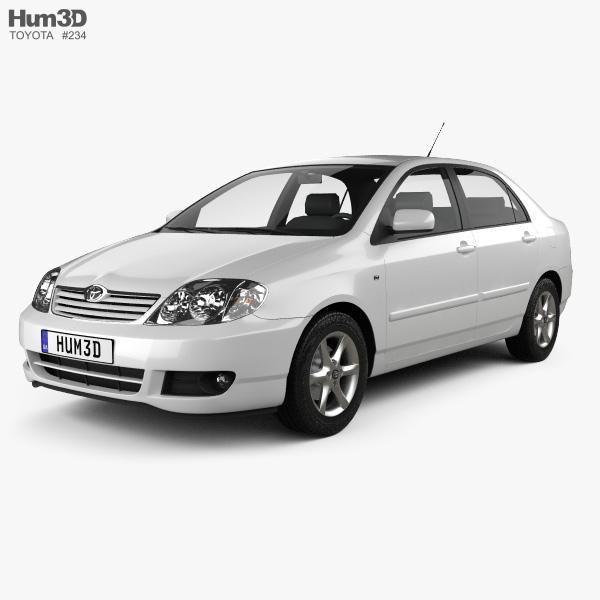 Toyota Corolla sedan 2004 3D model