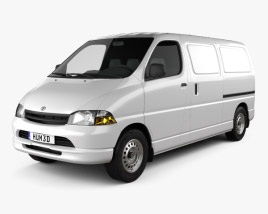 3D model of Toyota Hiace Panel Van 1995