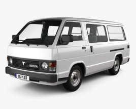 3D model of Toyota Hiace Passenger Van 1982