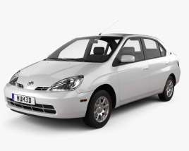 3D model of Toyota Prius 2000