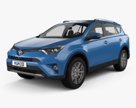 3D model of Toyota RAV4 Hybrid 2016