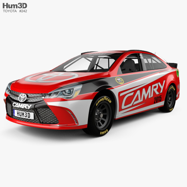 3D model of Toyota Camry NASCAR 2015