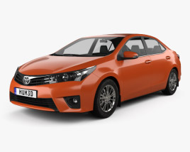 3D model of Toyota Corolla Limited 2014