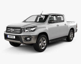 3D model of Toyota Hilux Double Cab Hi Rider 2015