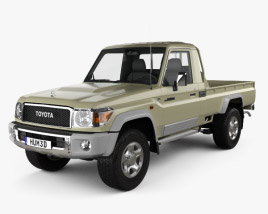 3D model of Toyota Land Cruiser Single Cab Pickup VXR 2007