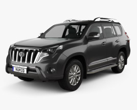 3D model of Toyota Land Cruiser Prado VXR 2016