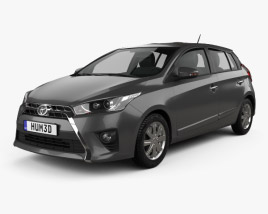 3D model of Toyota Yaris SE plus 2016
