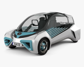3D model of Toyota FCV Plus 2015