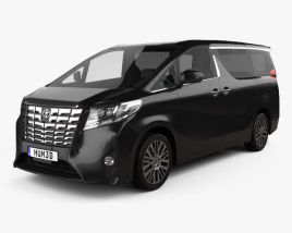 3D model of Toyota Alphard (CIS) 2015