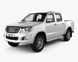3D model of Toyota Hilux Double Cab with HQ interior 2015