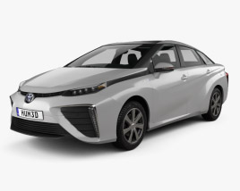 3D model of Toyota Mirai with HQ interior 2014