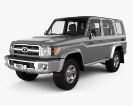 3D model of Toyota Land Cruiser 2007