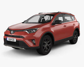3D model of Toyota RAV4 SE 2016