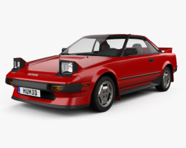 3D model of Toyota MR2 1984