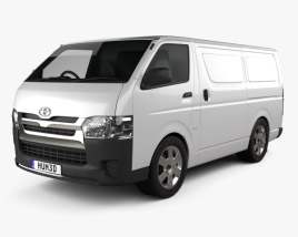 3D model of Toyota HiAce SWB Panel Van 2013