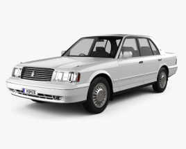3D model of Toyota Crown 1991