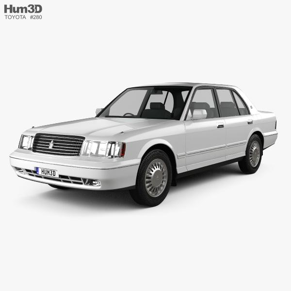 Toyota Crown 1991 3D model
