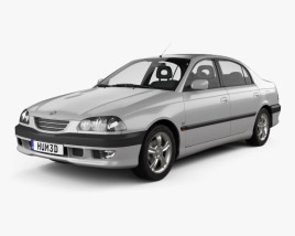 3D model of Toyota Avensis sedan 1997