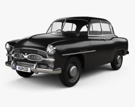 3D model of Toyota Crown Deluxe 1955