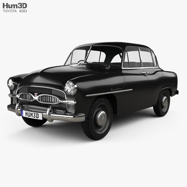 Toyota Crown Deluxe 1955 3D model