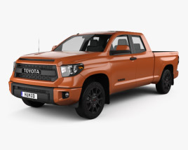 3D model of Toyota Tundra Double Cab TRD Pro 2014