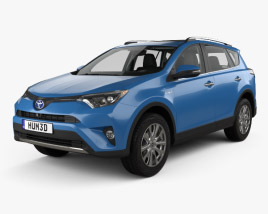3D model of Toyota RAV4 Hybrid with HQ interior 2016