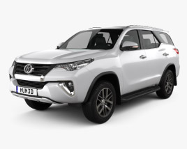 3D model of Toyota Fortuner VXR 2016