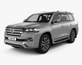 3D model of Toyota Land Cruiser VXR 2016