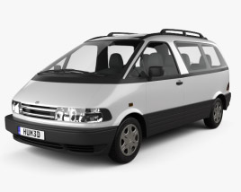 3D model of Toyota Previa 1990