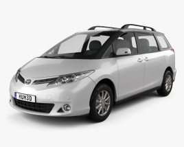 3D model of Toyota Previa SE 2016