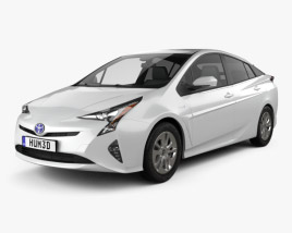 3D model of Toyota Prius Iconic 2016
