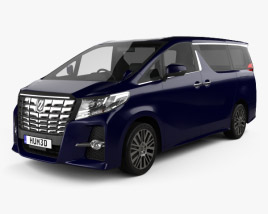 3D model of Toyota Alphard 2015