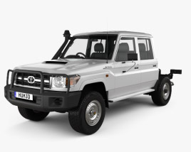 3D model of Toyota Land Cruiser (VDJ79R) Double Cab Chassis 2012
