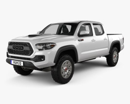 3D model of Toyota Tacoma Double Cab TRD Pro 2017