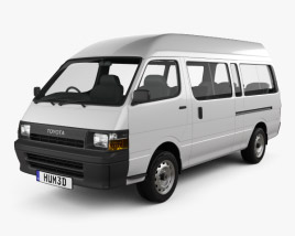3D model of Toyota HiAce Commuter 1992