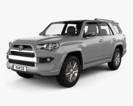3D model of Toyota 4Runner Limited 2016