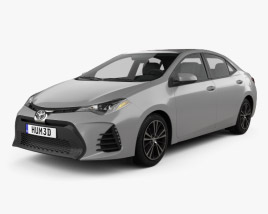 3D model of Toyota Corolla SE (US) 2013