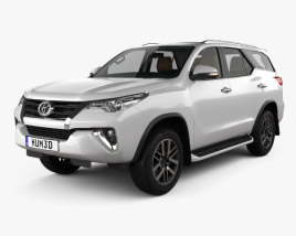 3D model of Toyota Fortuner with HQ interior 2016